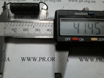 Пружина растяжения 1 х 10 х 41,5 (Артикул: R6285)
