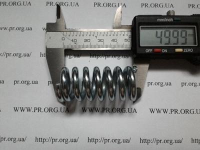 Пружина сжатия 4 х 24 х 50 (Артикул: S1066)