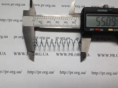 Пружина сжатия 0,7 х 10 х 55 (Артикул: S1081)