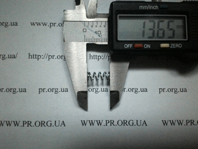 Пружина сжатия 0,8 х 6,4 х 13,5 (Артикул: S1099)
