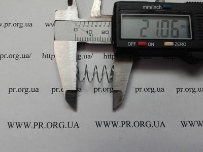 Пружина сжатия 0,6 х 10,2 х 21 (Артикул: S1191)