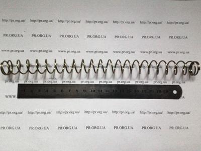 Пружина сжатия 1,5 х 19,3 х 250 (Артикул: S1207)