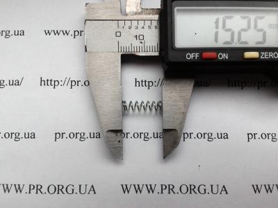 Пружина сжатия 0,5 х 4,4 х 15 (Артикул: S2758)