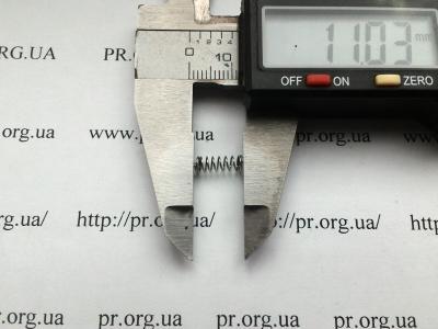 Пружина сжатия 0,4 х 3,7 х 11 (Артикул: S2764)