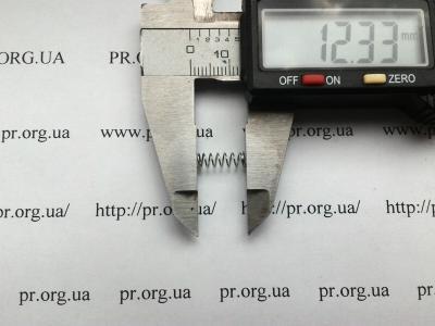 Пружина сжатия 0,4 х 4 х 12 (Артикул: S2768)
