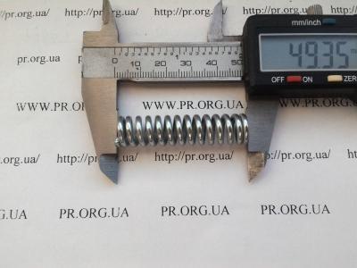 Пружина сжатия 2,2 х 11,8 х 49,3 (Артикул: S5416)