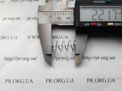Пружина сжатия 0,6 х 10 х 22 (Артикул: S5585)